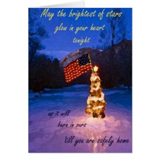 La carte de Noël la plus lumineuse d'étoiles