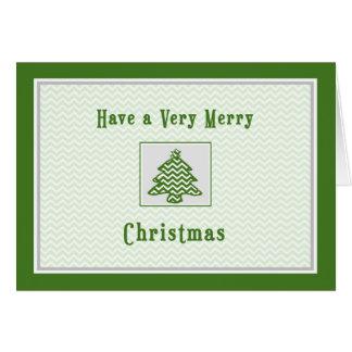 La carte de Noël pour Chevron voisin barre l'arbre