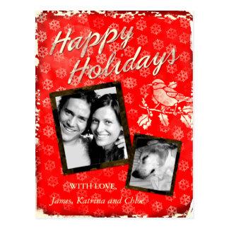 La carte de Noël rustique de la CHROMATOGRAPHIE Carte Postale
