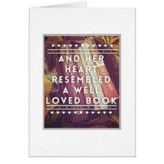 La carte de note d'amoureux des livres - masquez à