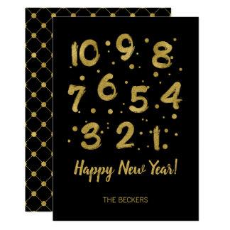 La carte de nouvelle année de compte à rebours de