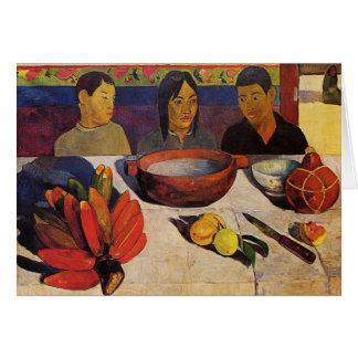 """La carte de Paul Gauguin de repas"" -"