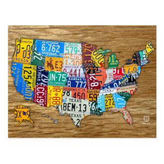 La carte de plaque minéralogique des Etats-Unis