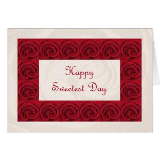 La carte de poème de jour la plus douce -- Roses