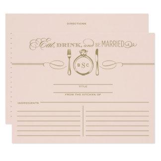 La carte | de recette mangent, boisson et soient carton d'invitation 10,79 cm x 13,97 cm