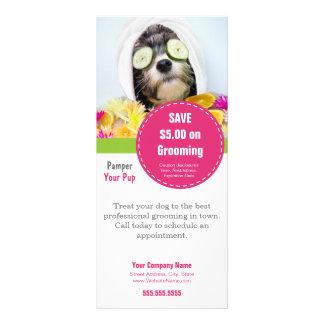 La carte de support de toilettage de chien le tran carte double en  couleur