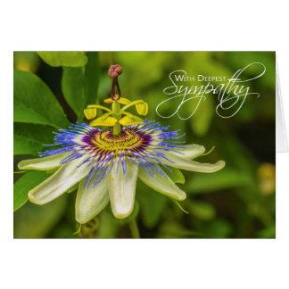 La carte de sympathie la plus profonde de fleur de