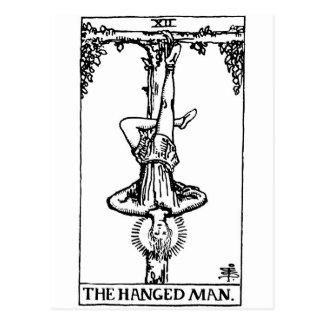 La carte de tarot 'a accroché le man cartes postales