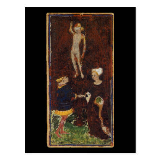 La carte de tarot d'amants cartes postales