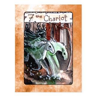 La carte de tarot de char carte postale