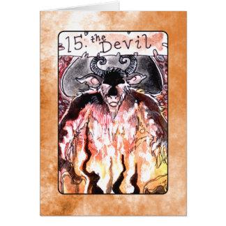 La carte de tarot de diable