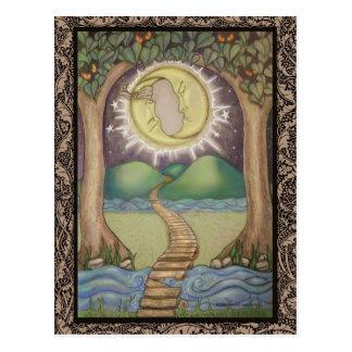 La carte de tarot de lune