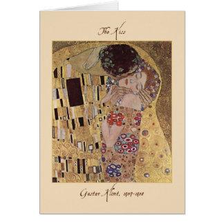 La carte de Valentine de baiser par Gustav Klimt