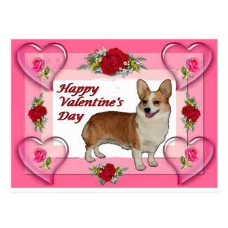 La carte de Valentine de coeurs et de roses de