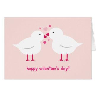 La carte de Valentine de perruches