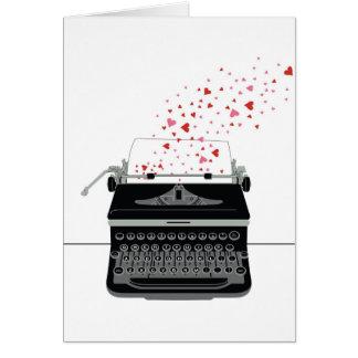 La carte de Valentine - rétro machine à écrire