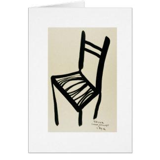 La carte de voeux de chaise