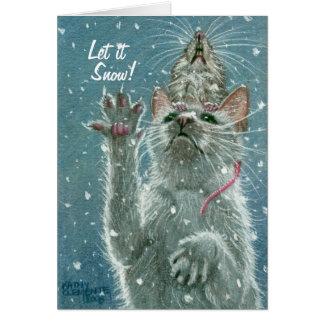 La carte de voeux de chat et de rat, l'a laissé