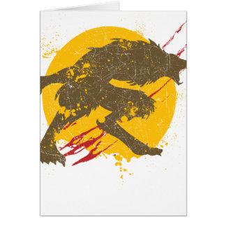 La carte de voeux de loup-garou