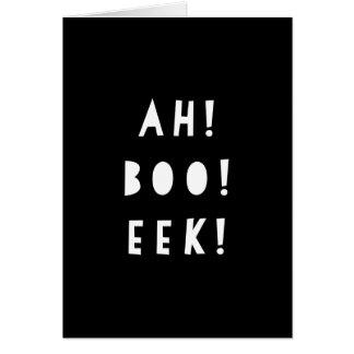La carte de voeux monochrome de Halloween   OH