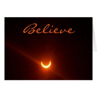 La carte d'espoir, croient. éclipse