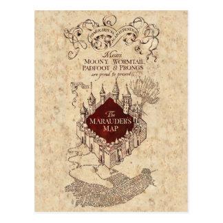 La carte du maraudeur du charme | de Harry Potter Carte Postale