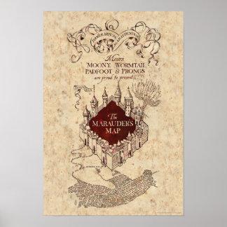 La carte du maraudeur du charme | de Harry Potter Poster