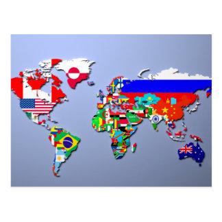 La carte du monde avec leurs drapeaux