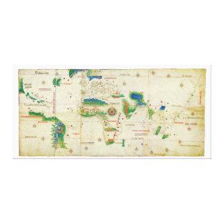 La carte du monde de Planisphere de Cantino (1502) Toiles
