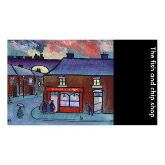 La carte du poisson-frite shop business cartes de visite professionnelles