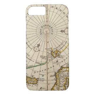 La carte du Pôle Nord et les territoires Coque iPhone 7