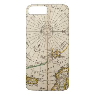 La carte du Pôle Nord et les territoires Coque iPhone 8 Plus/7 Plus