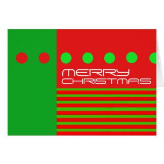 La carte moderne de Joyeux Noël pointille le rouge