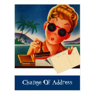 La carte postale a déplacé le nouveau changement