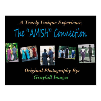 """La carte postale """" AMISH """" de connexion"""