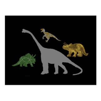 La carte postale de 4 Dinos