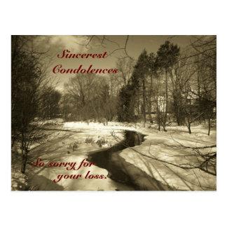 La carte postale de condoléances la plus sincère