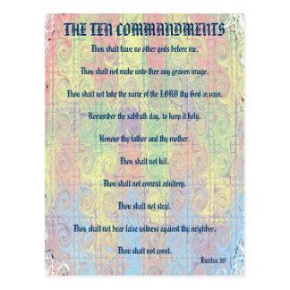 La carte postale de Dix commandements
