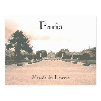 La carte postale de jardins de Louvre