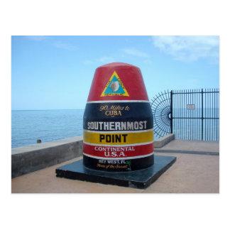 La carte postale de Key West la Floride de balise