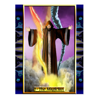 La carte postale de magicien de tarot de Banx