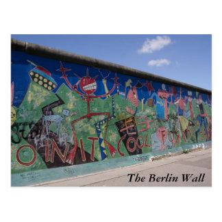 La carte postale de mur de Berlin