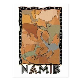 La carte postale de Namib