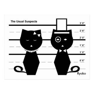 La carte postale habituelle de suspects