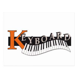 la carte postale «Keyboard» design