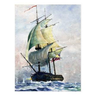La carte postale puissante de bateau