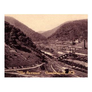 La carte postale vintage de Cumberland d'étroits