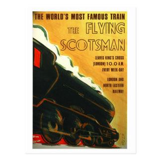 La carte postale vintage de style de Scotsman de v