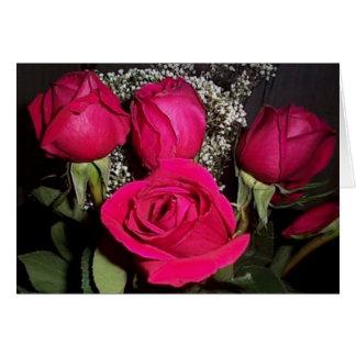 La carte rose de Valentine de bouquet (gros