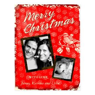 La carte rustique de Joyeux Noël de la